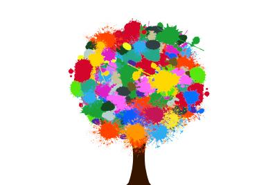 עץ מלא ברעיונות לפרסום עסק